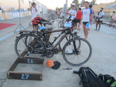 I joined the race with my Bergamont trekking bike which did a good job:D