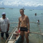 This fisherman is my usual training partner while swimming in the sea near Cordova, Cebu