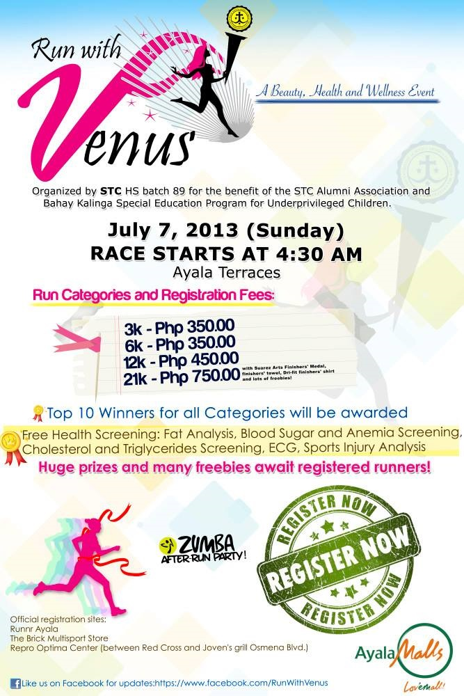 Run with Venus half marathon