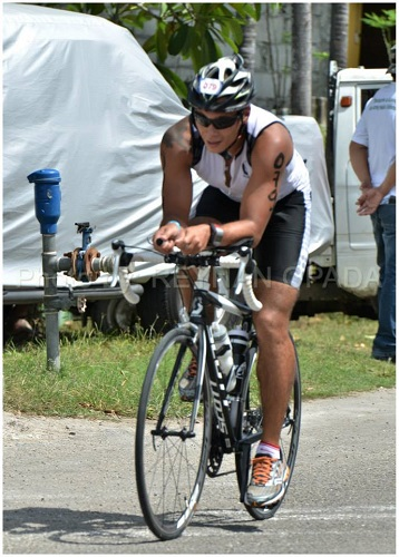 John Rueth cycling Hunat Sugbu Triathlon